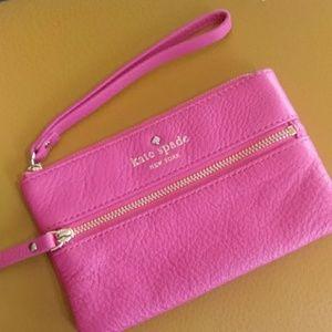 Kate spade little pink bag wristlet